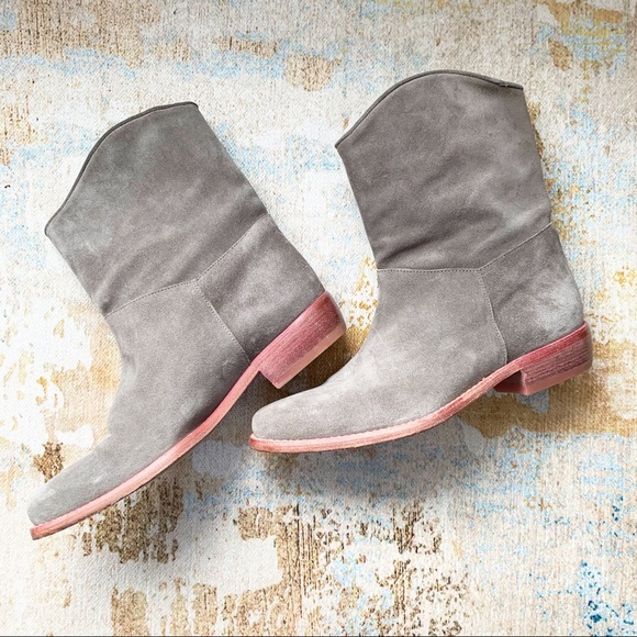 Marc Cain Leather Gray Suede Western Style Booties